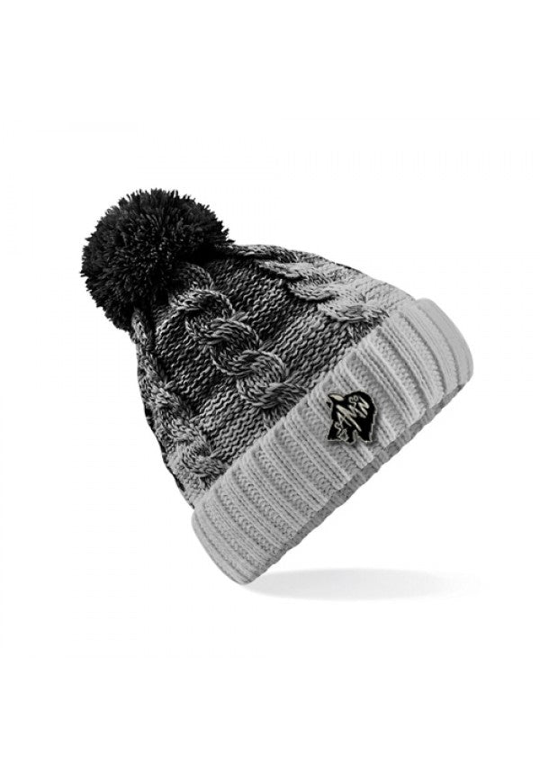 Ombre bobble hat black samson athletics