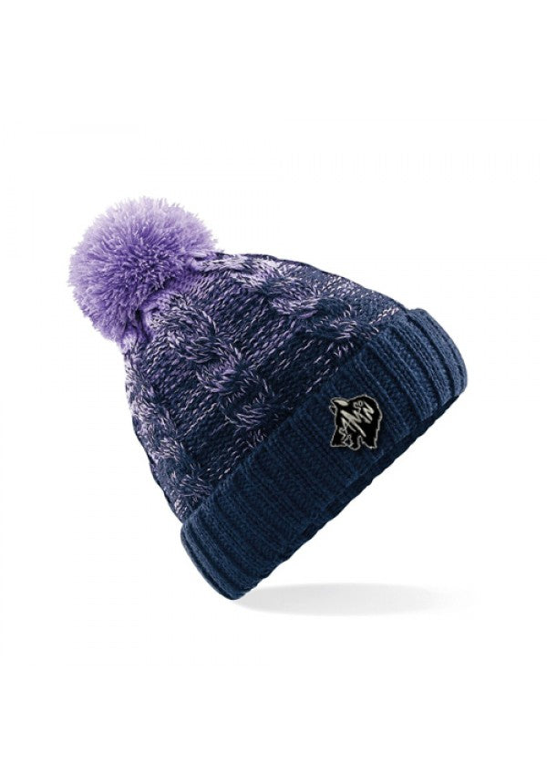 Ombre bobble hat light blue samson athletics