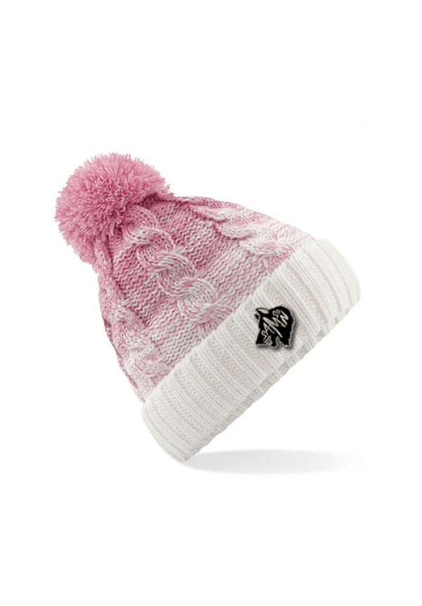 Ombre bobble hat pink samson athletics