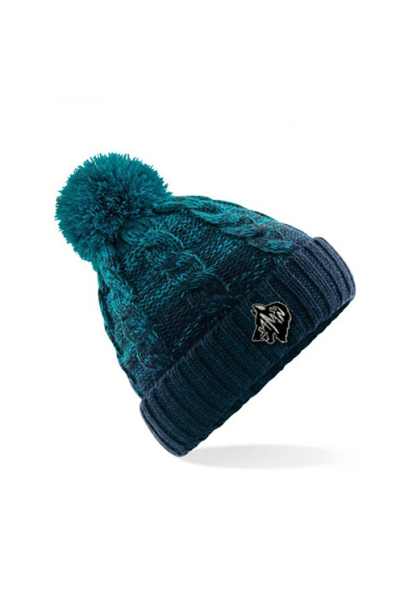 Ombre bobble hat teal samson athletics