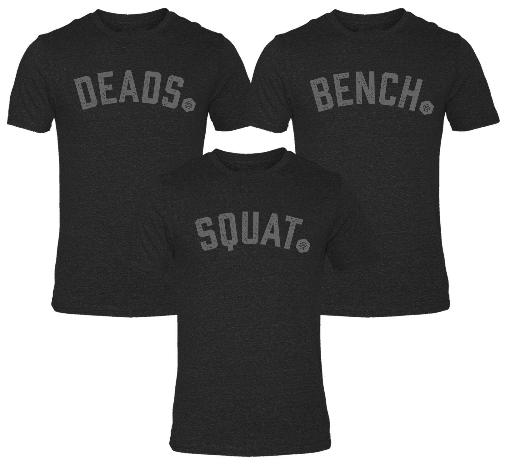 Bench Squats Deads Triblend Tee Set