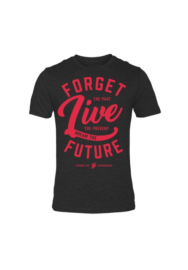 Forget the past live the present triblend tshirt samson athletics