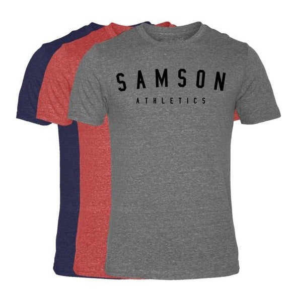 Classic signature  triblend t-shirt 3 pack samson athletics