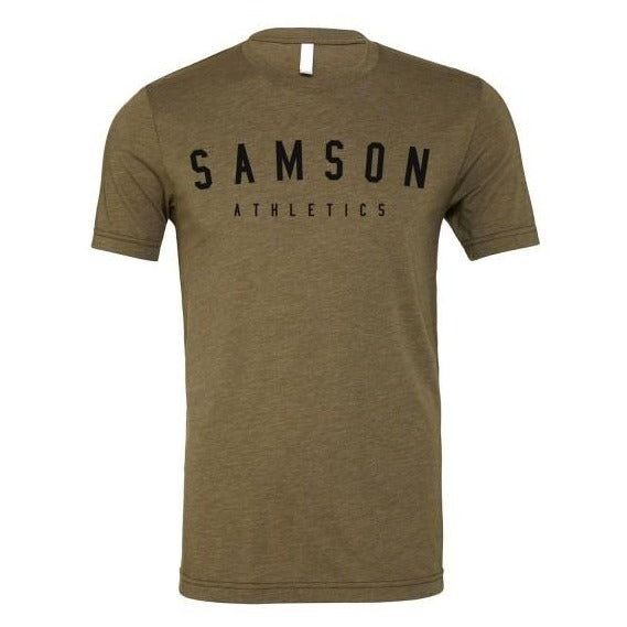 Classic signature olive triblend t-shirt samson athletics