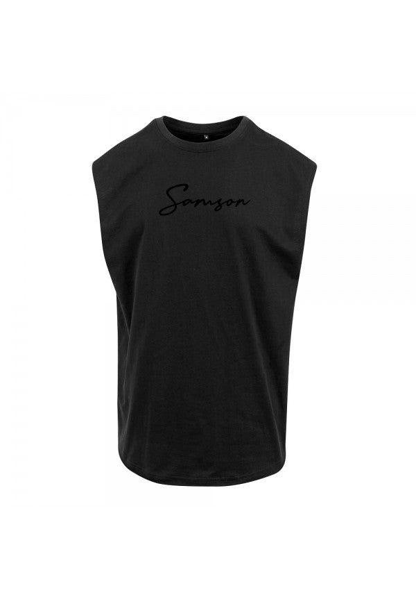 Signature sleeveless tank black samson athletics