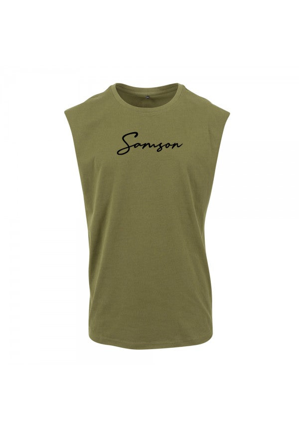 Signature sleeveless tank olive samson athletics