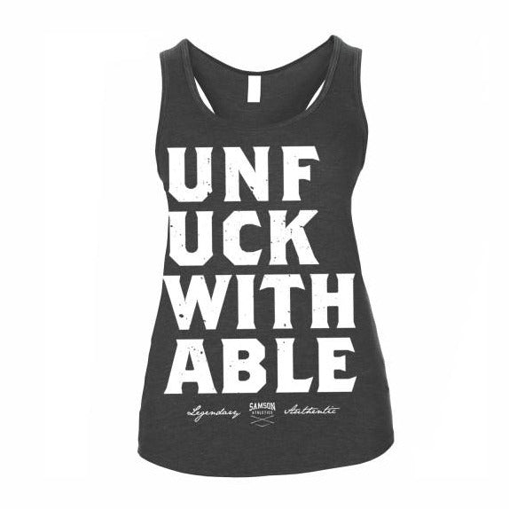 Unfuckwithable ladies triblend tank samson athletics