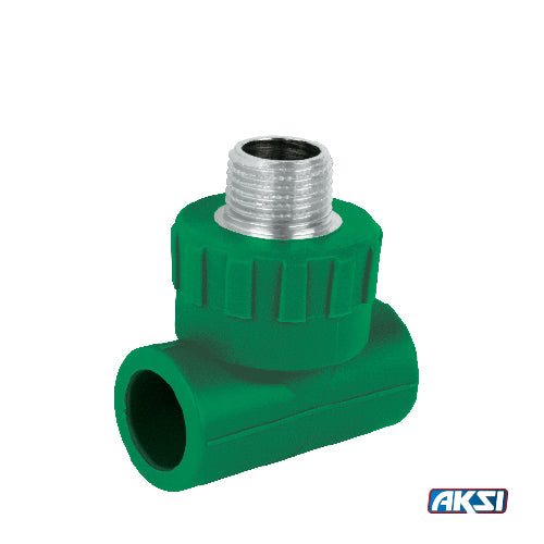"Tee PPR Rosca Central Exterior 20 mm - 1/2"" Aksi"