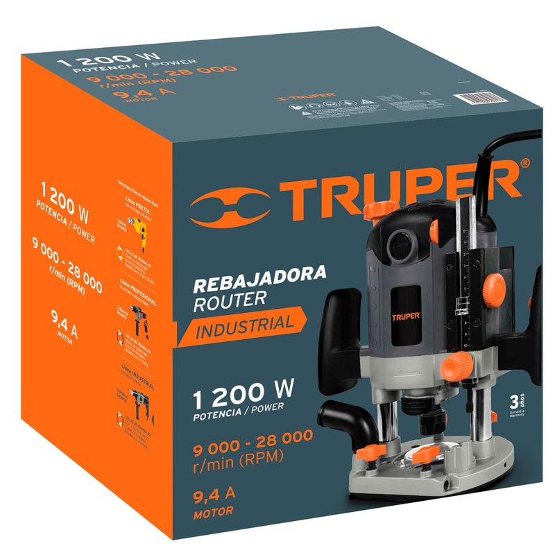 Router 1,200 Watts Truper Industrial