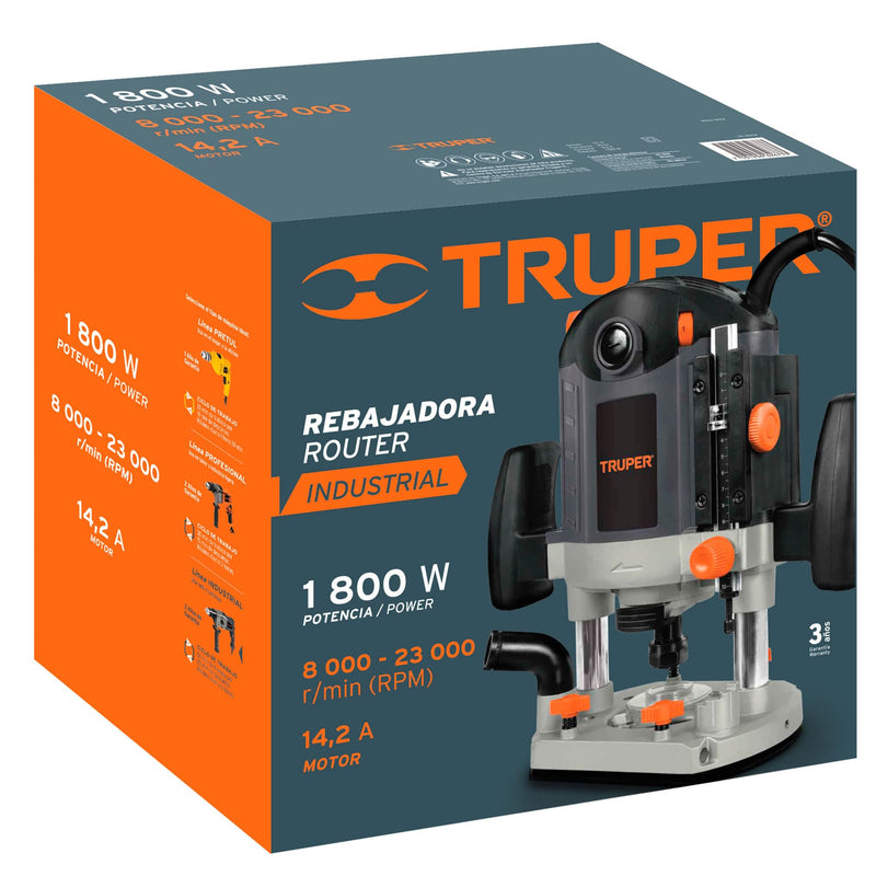 Router 1,800 Watts Truper Industrial