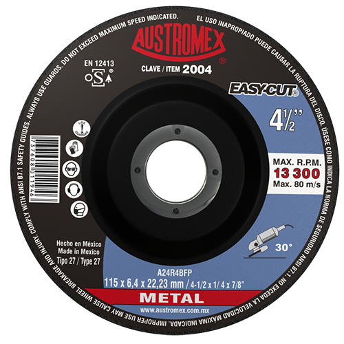 "Austromex Easy Cut 2004 Disco de Desbaste Metal 4""1/2"
