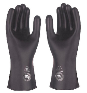 Adex 350-B Guantes Latex Contra Acido Negro No 8