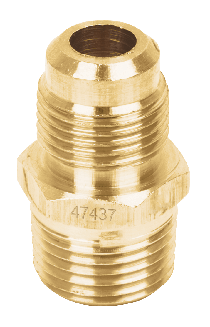 "Niple Terminal para Gas  8 mm x 10 mm (5/16"" x 3/8"") Foset"