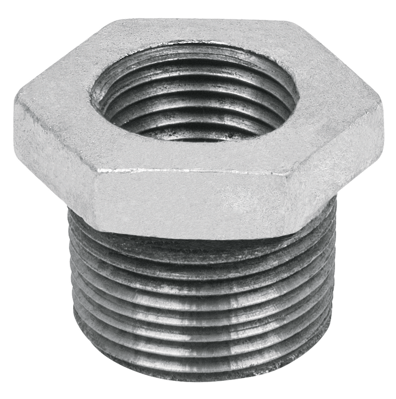 "Reduccion Bushing Galvanizada 19 mm x 13 mm - 3/4"" x 1/2"""