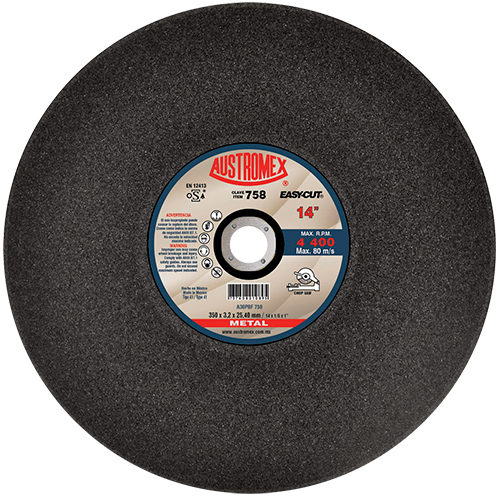 "Disco Corte de Metal 14"" Negro Easy Cut 758 Austromex"