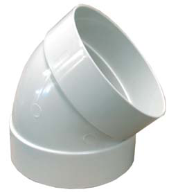 "Codo PVC Sanitario 45° X 40 mm - 1""1/2"