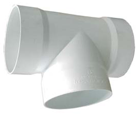 "Amanco Tee PVC Sanitario 40 mm - 1""1/2"