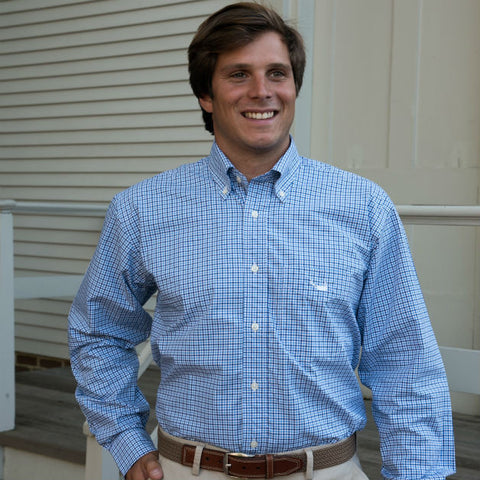 Summer Cotton Nantucket Island Logo Button Down