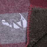 Nantucket Island Logo Wool Throw