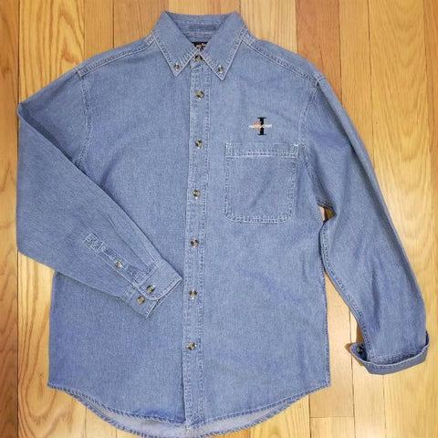 Spread Collar Long Sleeve Button Down