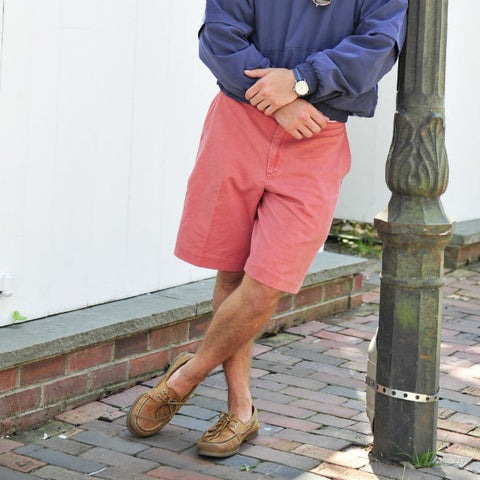 Nantucket Island Embroidered Seersucker Shorts