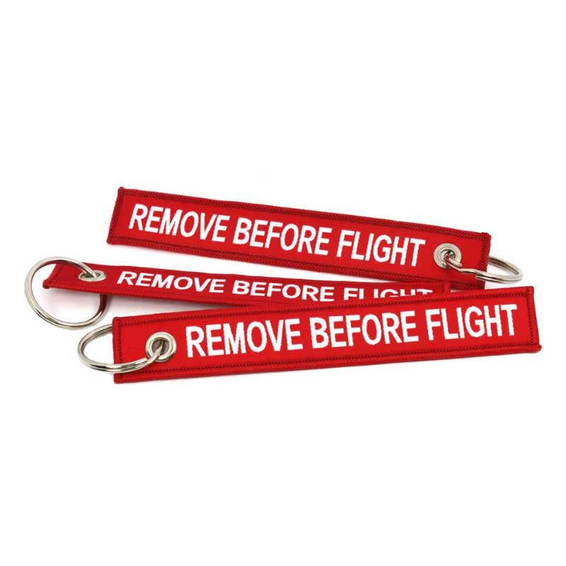 Schluesselband Remove Before Flight ClipItEasy Rot