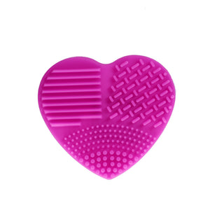 Silicone Heart Shape Makeup Brush Cleaner