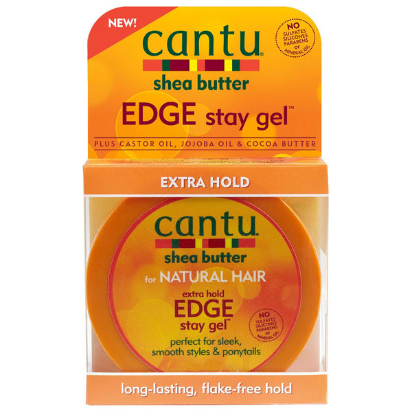 Cantu Shea Butter for Natural Hair Extra Hold Edge Stay Gel 370g - Afroquarter
