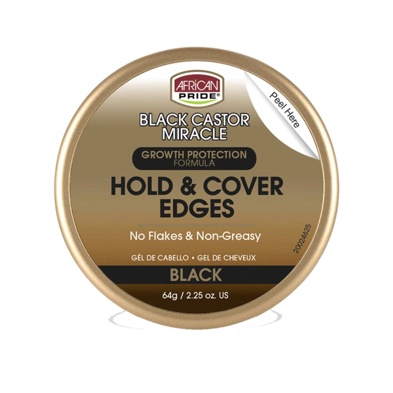 African Pride Black Castor Miracle Hold & Cover Edges - AQ Online