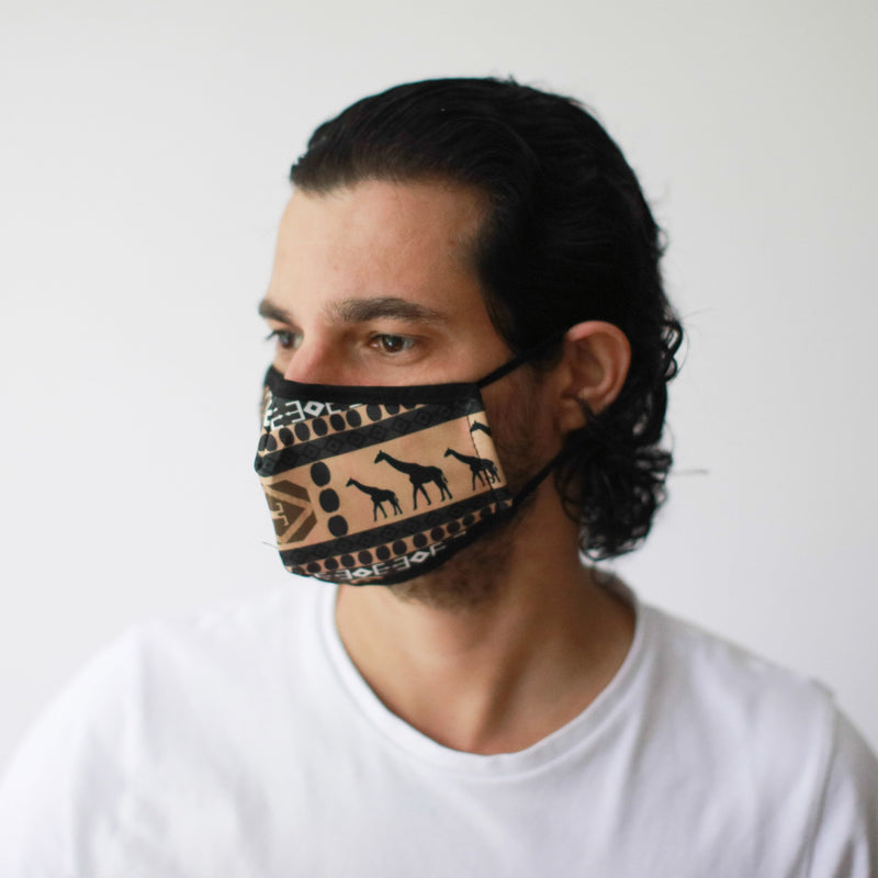 African Tribal Style Reusable fashion Face Mask -Adult Size
