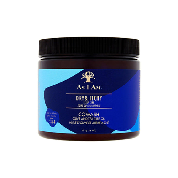As I Am Dry and Itchy Scalp Care Olive and Tea Tree Oil Co-Wash 454g - Afroquarter