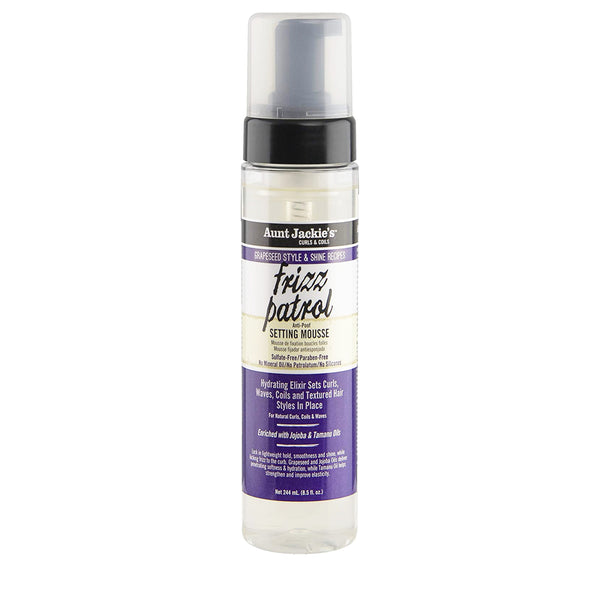 Aunt Jackie's Frizz Patrol Anti-Proof Twist & Curl Setting Mousse - AQ Online