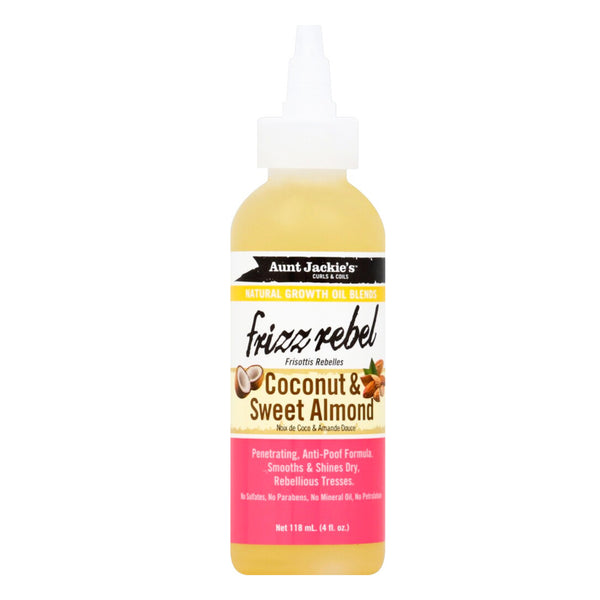 Aunt Jackie's Frizz Rebel Coconut & Sweet Almond 4 oz - AQ Online