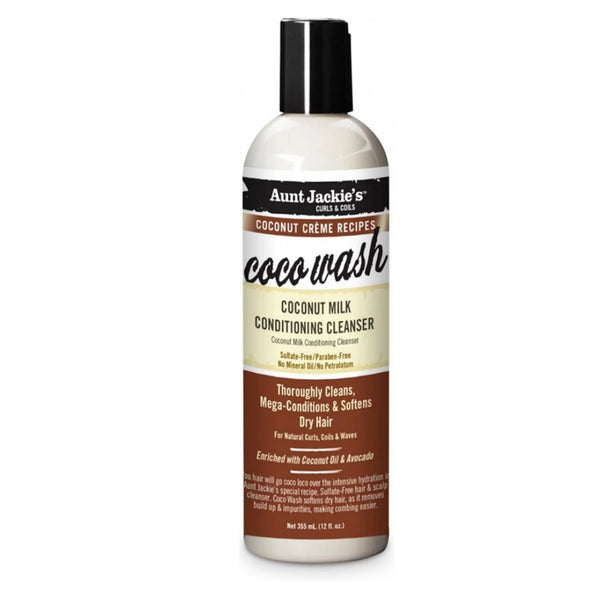 Aunt Jackies Coco Wash  Coconut Milk Conditioning Cleanser 12 oz - AQ Online