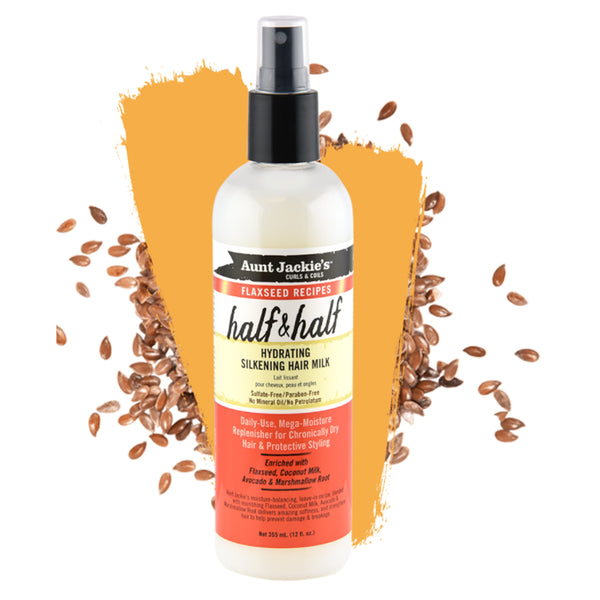 Aunt Jackies Halt & Half Hydrating Silkening Hair Milk - AQ Online