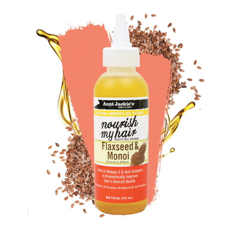 Aunt Jackies Nourish My Hair Flaxseed & Monoi 4 oz - AQ Online