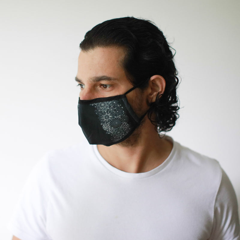 Black Elegance Reusable fashion Face Mask -Adult Size- AQ Online