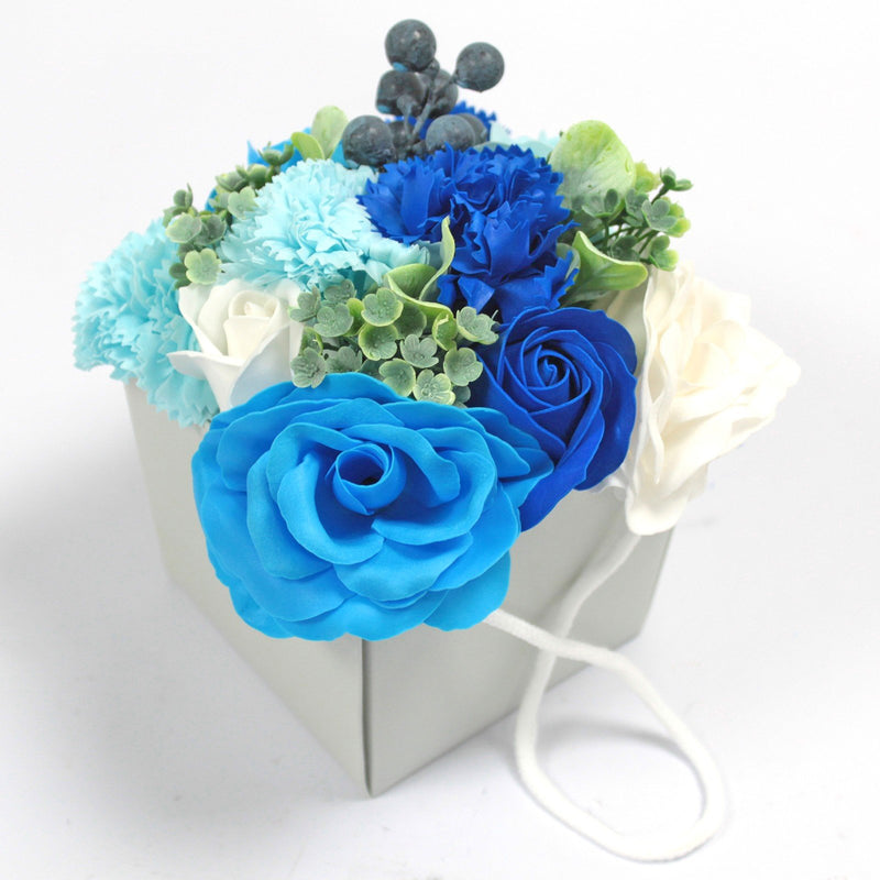 Blue Wedding Carnation Soap Flower Bouquet-  Afroquarter