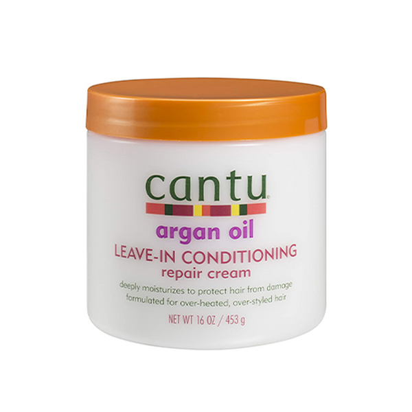 Cantu Argan Oil Leave in Conditioning Repair Cream 453g - Afroquarter