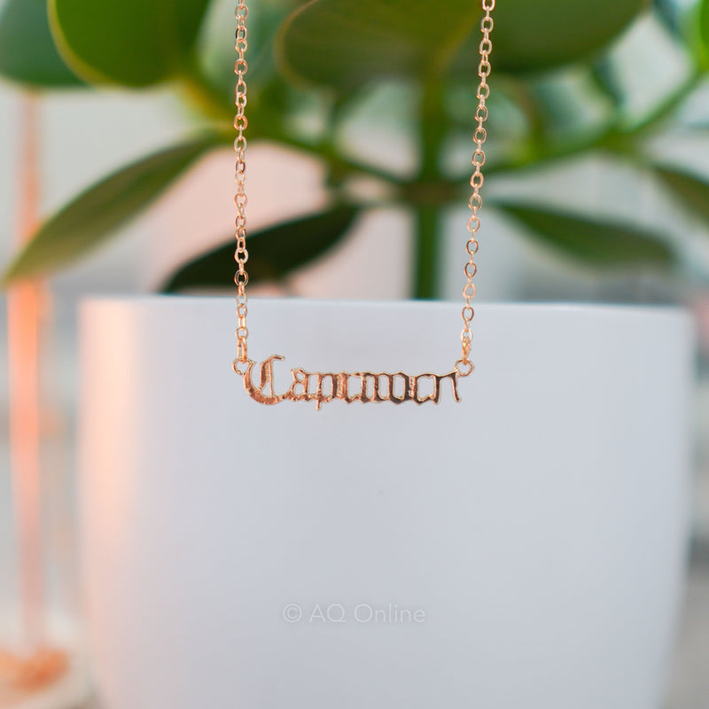 Capricorn Zodiac Sign Inspired Vintage Necklace- AQ Online