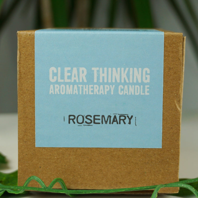 """Clear Thinking"" 100% Rosemary Essential Oil Soy Wax Candle 200g - Afroquarter"