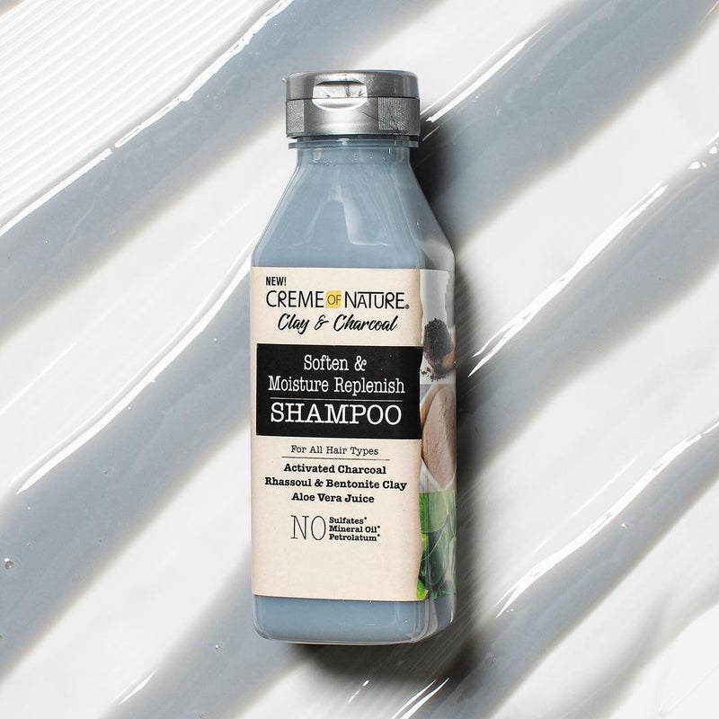 Creme Of Nature Clay And Charcoal Clay Soften And Moisture Replenish Shampoo- AQ Online