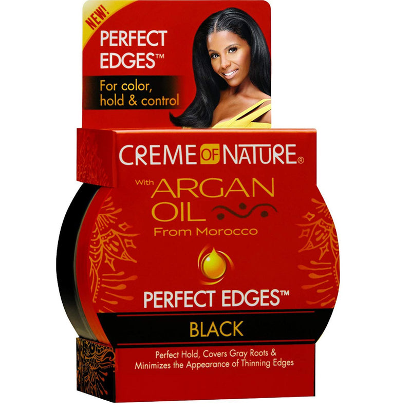 Creme of Nature Argan Oil Black Perfect Edges 63.7g - Afroquarter