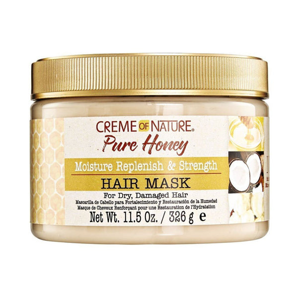 Crème of Nature Pure Honey Moisture Replenish & Strength Hair Mask- AQ Online
