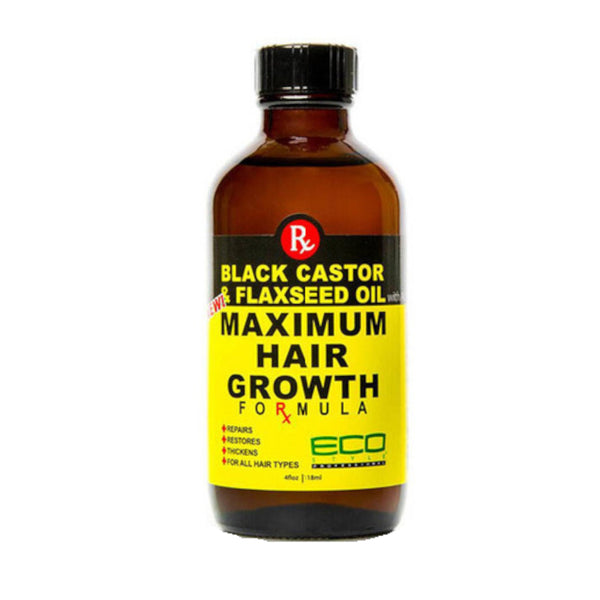 ECO Black Castor and Flaxseed Hair Growth - AQ Online