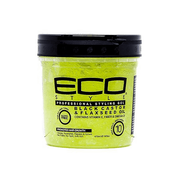 Eco Styler Black Castor & Flaxseed Oil  Gel (16oz) - Afroquarter