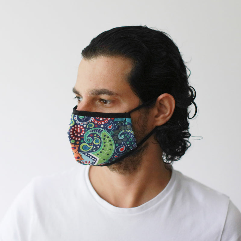 Funky Swirls Reusable fashion Face Mask Adult Size - AQ Online