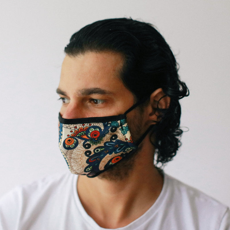 Golden Leaves Reusable fashion Face Mask Adult Size - AQ Online
