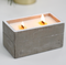 Large Wooden Concrete Clove & Dark Sandalwood Candle - aqnline