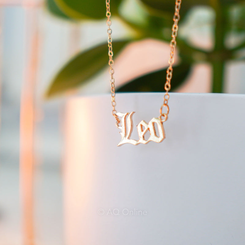 Leo Zodiac Sign Inspired Vintage Necklace- AQ Online